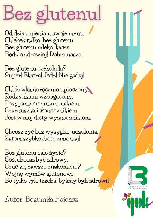 Wiersz bez glutenu atorstwa Bogumiły Hajdasz