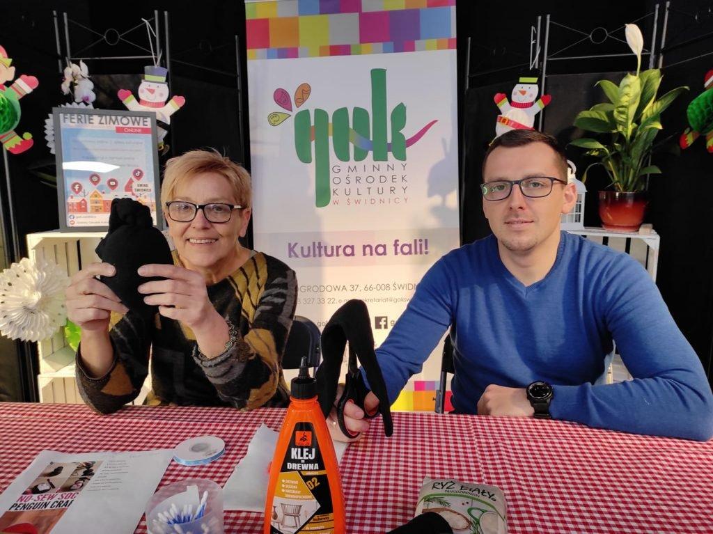 Małgorzata Stefańska i Paweł Kierzek prowadzą warsztaty dla dzieci