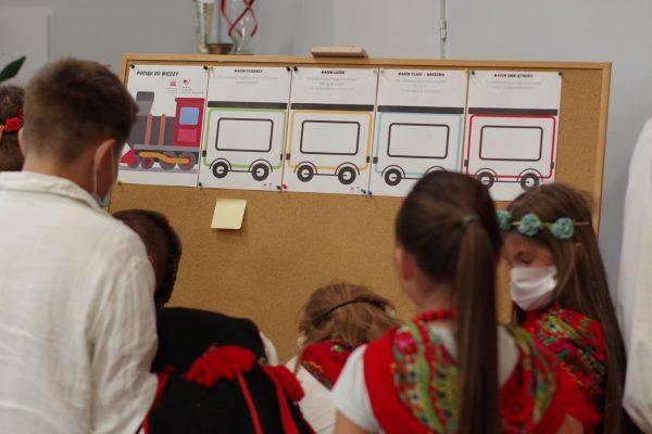 Dzieci tworzą mapę myśli