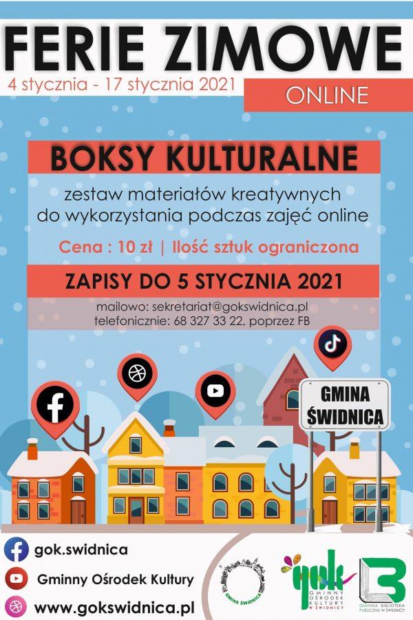 plakat ferie zimowe 4 stycznia - 17 stycznia 2021