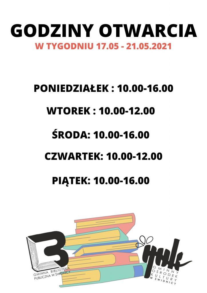 zmiana godzin otwarcia biblioteki